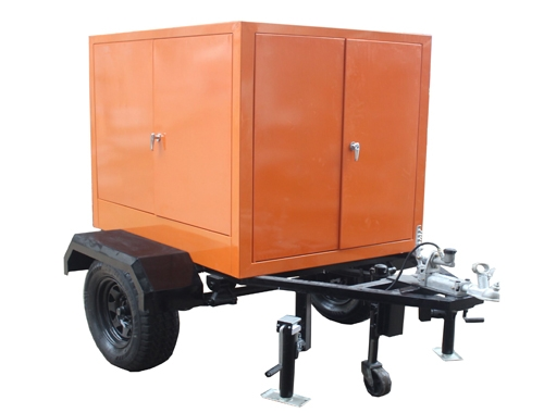 Transformer Oil Filtration Machine Mounted On Trailer