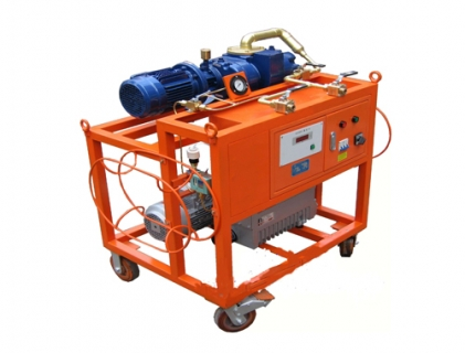 Gas evacuation unit