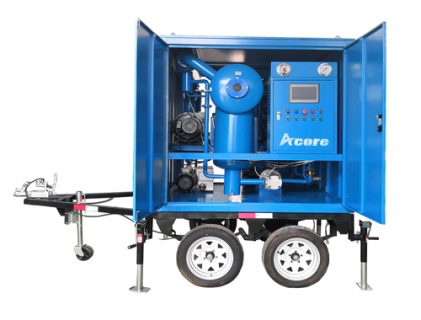 MTP Mobile Transformer Oil Filtration Machine on Trailer