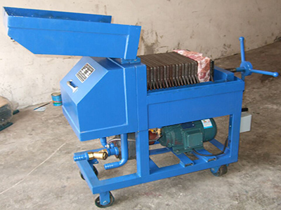 Plate and Frame Press Oil Filtration Machine